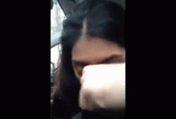 Армянская порнуха в машине - армянка сосёт